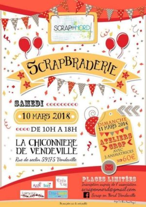 Scrapbraderie 2018 de l'association Scrap en Nord de Vendeville