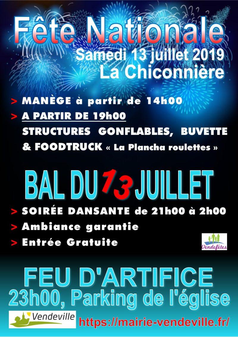 Festivités du 13 juillets 2019 à Vendeville